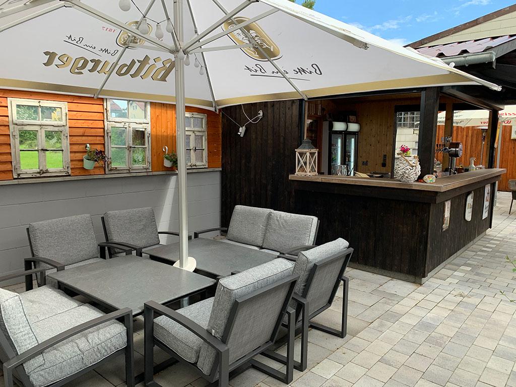 Zum Burghof Biergarten in Romrod andere Perspektive
